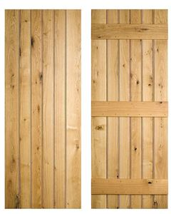 Leadged and Braced Solid Oak Doors. Lovely Cottage style door from Venables Brothers Ltd.