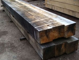 Air Dried Oak Beam in EC Forest Yard