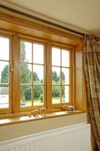 Window boards in use, project by EC Forest Products.
