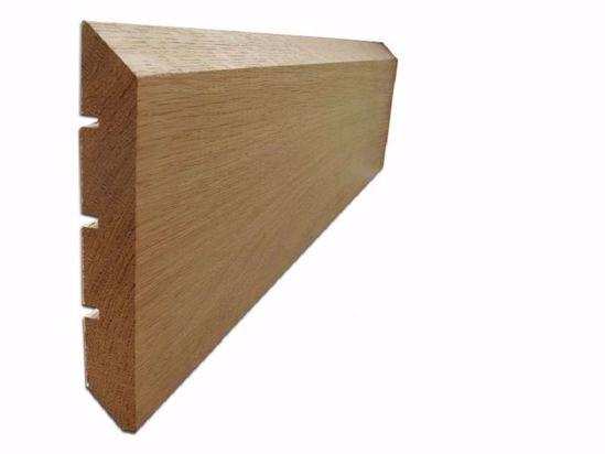 External Rainscreen Cladding profile in Oak. EC Forest Products.
