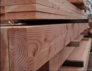Planed All Round Douglas Fir Beams in EC Forest Yard